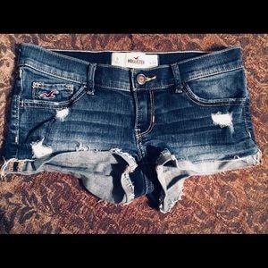 Hollister Shorts Size 0/24 Denim Cut Offs